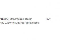 微信小程序预览时遇到错误-800059